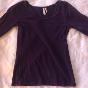 Purple tight long sleeve